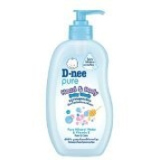 New D-nee Pure Head & Body Baby Wash Pure Mineral Water & Vitamin E 380 Ml