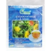 New Dr.Green : Safflower New Herbal Tea 15g. (15 Teabags) Product of Thailand