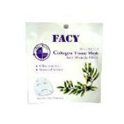 New Facy Collagen Facial Tissue Mask Anti-ageing Wrinkle Lines with Olive Essence Amazing of Thailand