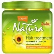 New Lolane NATURA HAIR TREATMENT WITH SUNFLOWER EXTRACTS FOR NOURISHING & colour New Care 500 G.