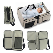 3 in 1 Travel Bassinet Nappy Bags & Portable Crib Infant Bed Changing Station Nursery Travel Bed by WXDZ