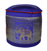 Room Decorative Elephant Design Silk Ottoman Cover 17 X 43cm X 30cm