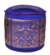 Silk Ottoman Floor Cushion Cover 17 X 43cm X 30cm