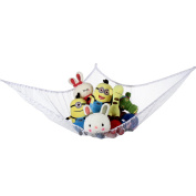 Sea Team Multipurpose Elastic Hanging Storage Polyester Netting Hammock String Bag Toys Organiser with 3 Suction Hooks for Kid's Room Nursery Stuffed Plush Toys Clothes Caps Socks Gloves Collection