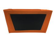 Foldable Cloth Storage Bin with Chalkboard Side and Handles (Write with Bistro Marker or Chalk) Orange - Get Organised and Remove Clutter