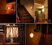 Fetoo Body Motion Sensor 5 LED Night Light For Hallway Home Bedroom Warm Light