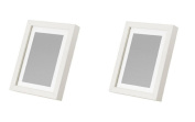 Ikea Ribba 5x7 Picture Frame, White, Set of 2 New