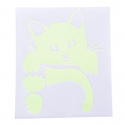 Happu-store(TM) 1 Pcs Kitty Cat Luminous Switch Wall Sticker Cartoon Kid Bedroom Home Decor