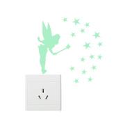 Happu-store(TM) 1 Pcs Magic Fairy Luminous Switch Wall Sticker Cartoon Kids Bedroom Home Decor