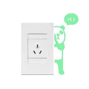 Happu-store(TM) 1 Pcs Panda Luminous Switch Wall Sticker Cartoon Kids Bedroom Home Decal Decor