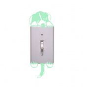 Happu-store(TM) 1 Pcs Puppy Luminous Switch Wall Sticker Cartoon Dog Kids Bedroom Decal Decor