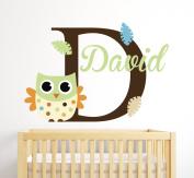 Custom Owl Name Wall Decal Room Decor Nursery Wall Decal Vinyl Sticker