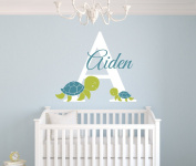 Custom Turtles Name Wall Decal Room Decor Nursery Wall Decal Vinyl Sticker