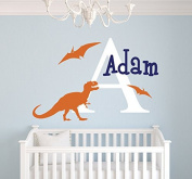 Custom Dinosaurs Name Wall Decal Room Decor Nursery Wall Decal Vinyl Sticker