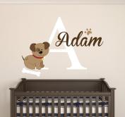 Custom Puppy Name Wall Decal Room Decor Nursery Wall Decal Vinyl Sticker