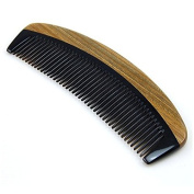 Cavin Schon Sandalwood Hair Comb | Non Static Detangling Natural Aroma Handmade OX / Buffalo Horn Combn