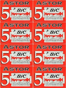 40 BIC - ASTOR STAINLESS Double Edge Razor Blades - DELIVERY IN 6 TO 10 DAYS