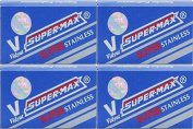 40 SUPER-MAX - SUPER STAINLESS Double Edge Razor Blades - DELIVERY IN 6 TO 10 DAYS