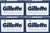 20 GlLLETTE PLATINUM Double Edge Razor Blades - DELIVERY IN 6 TO 10 DAYS