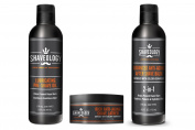 Shaveology Advanced Skin Care Trio - Best Selling Pre Shave Oil, Rich Shave Lather and our 2-IN-1 Anti-Ageing After Shave Balm