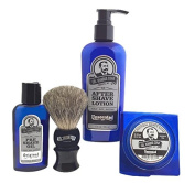 Colonel Conk Model 4024 Unscented 4pc Shave Kit with Soap