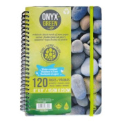 "Notebook, 6""x9"" W/Elastic Closure, 60 Ruled Sheets, Stone Paper"