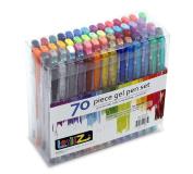 LolliZ® 70 Gel Pens Tray Set, 70 Unique Colour Choices