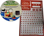 Wedding or Anniversay Stencils, Reusable Mr. & Mrs. Designs + How to Etch CD