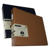 2 DCWV 3-Ring Leatherette Scrapbooking Albums Photo Binders 30cm x 30cm Acid Free Pages
