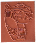 C.C. Designs Dude Pollycraft Cling Stamp, 7cm by 5.1cm
