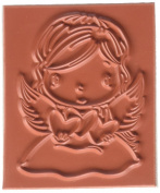 C.C. Designs Angel Wings Swiss Pixie Cling Stamp, 6.4cm by 5.1cm