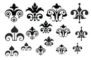 Cool Tools - Jewel Stamps for Soft Clay - Floral Fleur de Lis 2