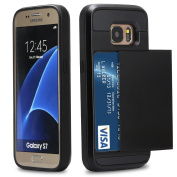 Galaxy S7 Case, MCUK [Drop Protection] [Heavy Duty] [Card Slot] Shock Absorbing Rubber Bumper Armour Scratch-proof Case Cover for Samsung Galaxy S7