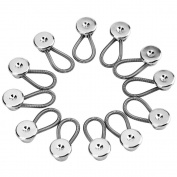 eBoot 12 Pack 10 mm/ 0.38 Inch Metal Collar Extenders Button Extenders for Shirt Dress Trouser Coat Collars Pants