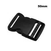 "Lightweight Plastic 2""(50mm) Flat Dual Adjustable Side Release Buckles"