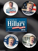 2016 Set of 5 Different Hillary Clinton Campaign Buttons Just Released