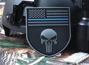MulticamThe thin blue line DevgruSealTeam Punisher american flag DEVGRU SealTeam Tactical hook and loop PATCH