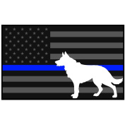 13cm x 7.6cm Reflective Decal K9 Tactical Police Law Enforcement Thin Blue Line United States Sticker