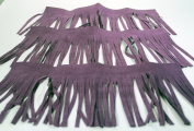 Synthetic Microfiber Suede 15cm Trim - 7.6cm - 30cm Lengths PURPLE
