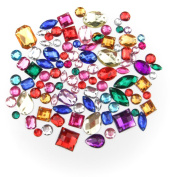 ALL in ONE Mixed Colour and Shape Sew on Acrylic Diamante Rhinestone Crystal Gemstone with Hole