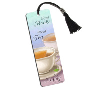 Delicate Teacups Printed Bookmark with Tassel