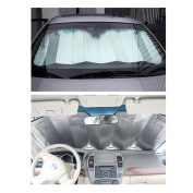 Silver Car Foldable Rear/front Sun Shade Visor Shield Windshield Reflective Heat Cover