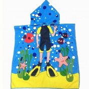 Gotd Hooded Towel for Kids Toddlers Animal Bath Wrap Beach Poncho with Hood Robe Baby Bath Cover Towel