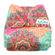 Mama Koala One Size Pocket Washable Adjustable Cloth Nappy,Mandala
