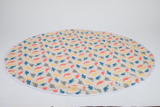 Kenley Baby Splat Mat For Under High Chair - Waterproof Washable Feeding Highchair Food Splash Spill Mats - Large Floor Table Protector Cover - Happy Dino