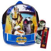 Star Wars Toddler Preschool Mini Backpack 28cm with Star Wars Pencils and Pencil Case