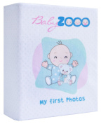 BabyZooo Baby Plush Soft Photo Album 10cm x 15cm Pictures - My First Photos - New 2016 Product - Baby Friendly - Sweet Infant Birthday Gift - Unisex - White.