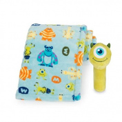 Disney Baby - Monster's Mike - Baby Blanket with Stick Rattle