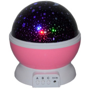 Night Lighting Lamp Romance and Relax Effect Star Projector 4 LED Beads 360 Degree Star Borealis Projector Decorative Light, Mood Light in Kids Room