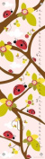 Oopsy Daisy Growth Charts Ladybug Branches Pink by Finny and Zook, 30cm by 110cm